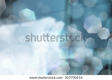 abstract bedroom with light and bokeh. - stock photo