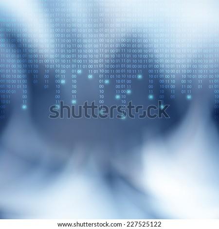 Abstract binary code background. Matrix style. - stock photo
