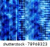 Abstract binary code, blue digital screen - stock photo