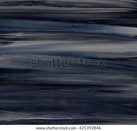 Abstract black and grey acrylic painting on grunge paper texture - artistic stylish background. Black and grey striped background - stock photo