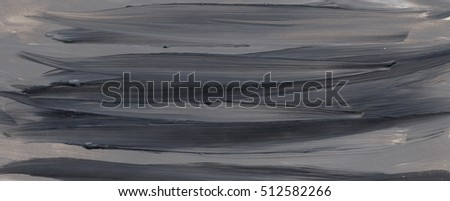 Abstract black and grey acrylic painting on grunge paper texture - artistic stylish background. Black and grey striped background
