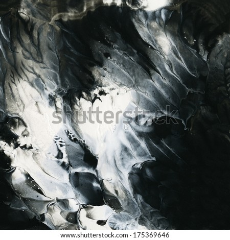 Abstract black and white background template. - stock photo
