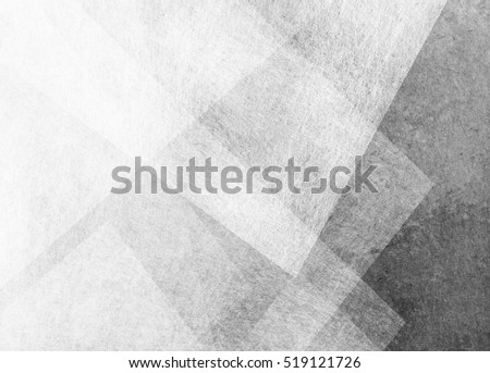 abstract black and white background with transparent triangle layers of white parchment in random overlapped pattern on black grunge textured background