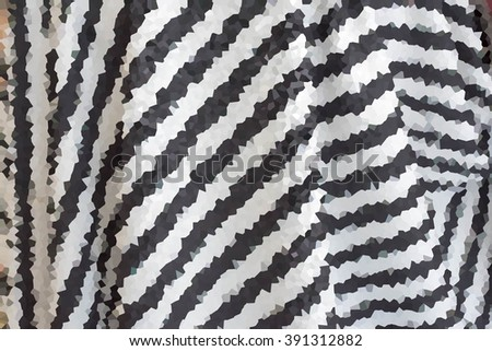 Abstract black and white cell pattern graphic