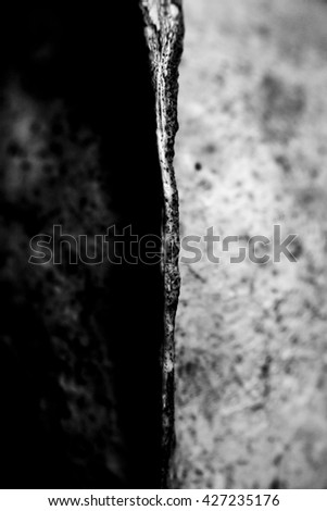 Abstract Black and White Close Up of a Skull - stock photo