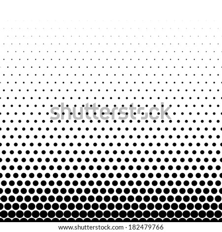 Abstract black and white dotted background - stock photo