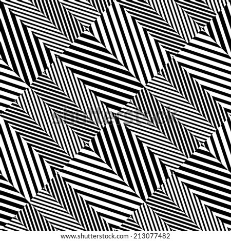 Abstract Black and White Herringbone Fabric Style Seamless Pattern - stock photo