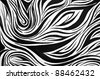 Abstract black and white swirl background - stock photo