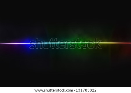 Abstract black background - light dispersion - stock photo
