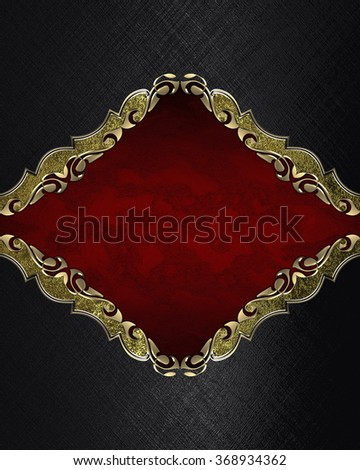 Abstract black background with a red plate. Element for design. Template for design. copy space for ad brochure or announcement invitation, abstract background.