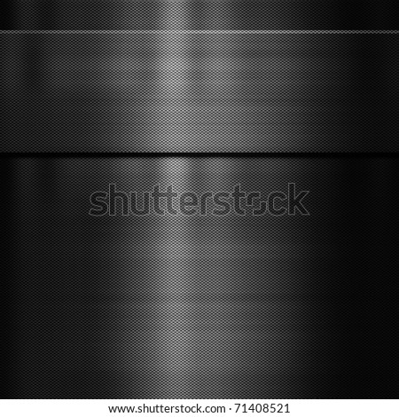 abstract black carbon fibre background image - stock photo