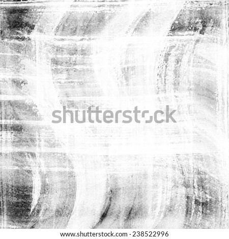 Abstract black ink painting on grunge paper texture. Plaid hand painting backdrop. - stock photo