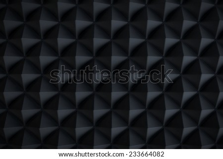 Abstract black metallic pyramid background