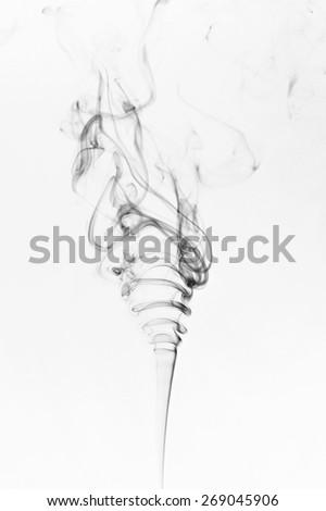 abstract black smoke on a white background - stock photo