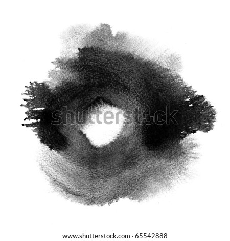 Abstract black watercolor hand painted background