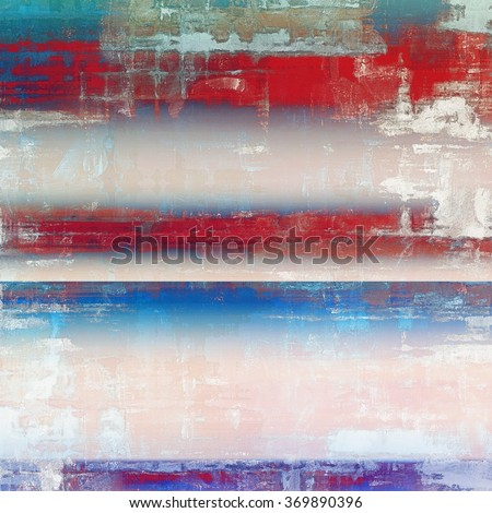 Abstract blank grunge background, old texture with stains and different color patterns: brown; red (orange); pink; blue; white - stock photo