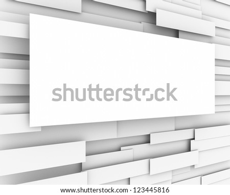 Abstract blank paper billboard conceptual design. Advertising template empty poster - stock photo