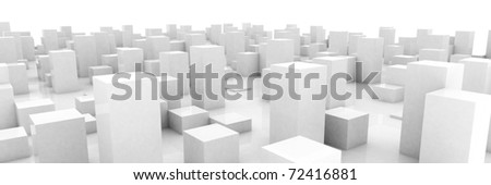 abstract blocks city - stock photo