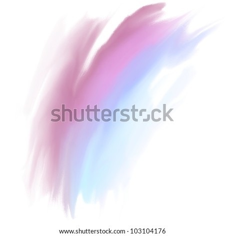 Abstract blue and pink hand drawn oil  background, raster illustration - stock photo