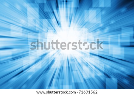 Abstract blue and white futuristic background - stock photo