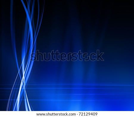 abstract blue background - crossing waves - stock photo