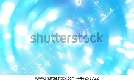 Abstract blue background. Explosion star.