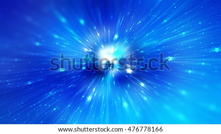 abstract blue background. explosion star.  illustration digital.