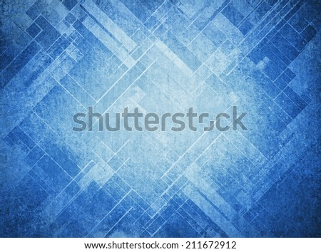 abstract blue background faded geometric pattern of angles and lines, diagonal design elements, textured background  - stock photo