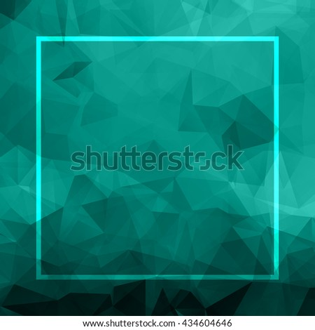 Abstract blue background. Geometric abstract background, pastel color. Modern stylish abstract design poster, cover, card design. Polygonal vintage texture, pattern and geometric elements. Raster copy - stock photo