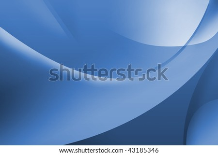 Abstract blue background, illustration. Useful as desktop wallpaper - stock photo