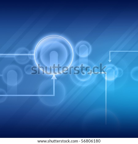 Abstract blue background is from different lines - stock photo