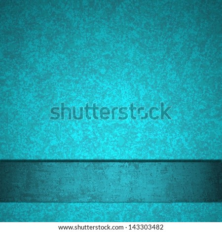 abstract blue background luxury elegant layout with rich dark light blue color paper cool blue ribbon, has copyspace vintage grunge background texture sponge detail for website template or brochure - stock photo