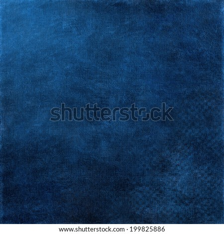 abstract blue background of elegant dark blue vintage grunge background texture black on border with light center blank for luxury brochure invitation ad or web template  - stock photo