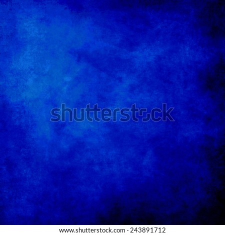 abstract blue background of elegant dark blue vintage grunge background texture black on border with light center blank for luxury brochure invitation ad or web template, paper art canvas paint layout