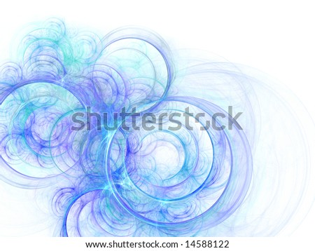 abstract blue background over white - stock photo