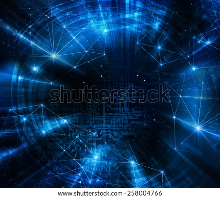 Abstract blue background. Technology background, from series best concept of global busines - stock photo
