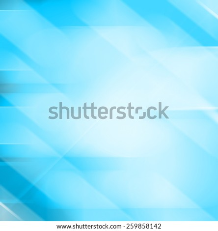 Abstract blue background with blurred lines - stock photo
