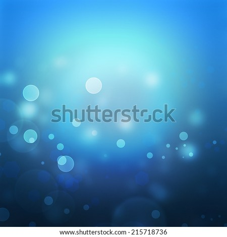 abstract blue background with bokeh effect - stock photo
