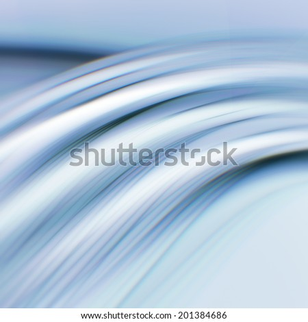 Abstract blue background with light smooth lines - stock photo