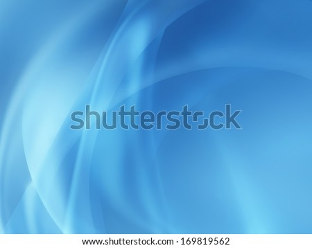 abstract blue background with smooth lines - stock photo