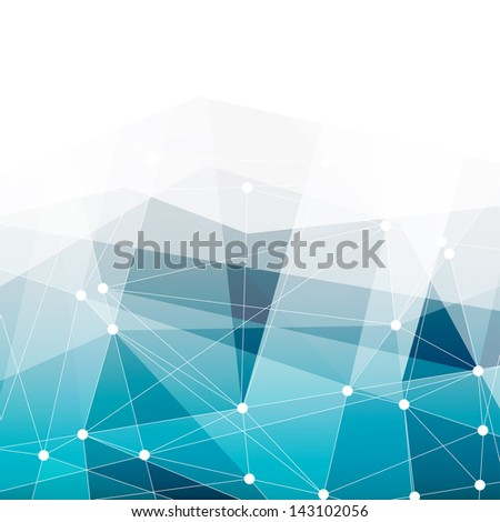 Abstract blue background with space for text. Raster version, vector file available in portfolio. - stock photo