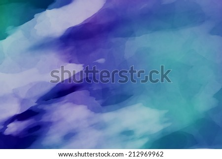Abstract blue background with watercolor paint imitation - stock photo
