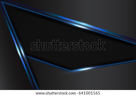 Abstract Blue Black Frame Design Concept Layout Background,  Innovation,metallic,illustration