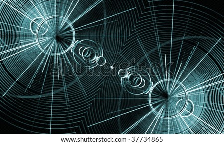 abstract, blue, circle, background