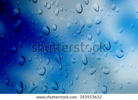 abstract blue  color  background   with  drop water