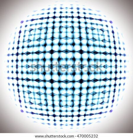 Abstract blue convex form geometric background.