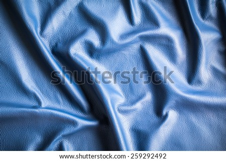 Abstract blue cow leather texture background - stock photo