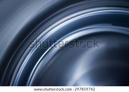 Abstract Blue Curve Line - stock photo