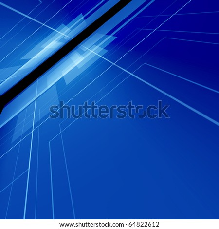 Abstract blue digital background with high detail - stock photo
