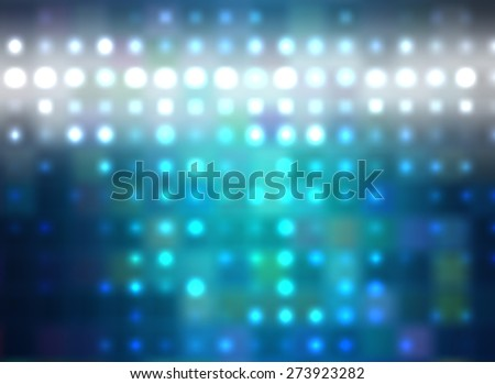 Abstract blue football or soccer backgrounds. Beautiful artistic flood lights